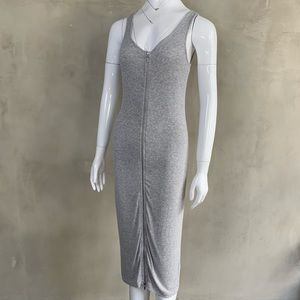 Guess Front Zipper Midi Dress